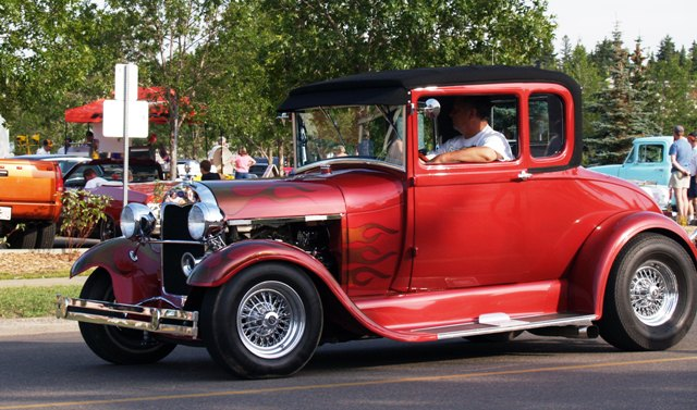 Hot Rod at Rockin' August Event in St. Alberta, Alberta by Sheree Zielke