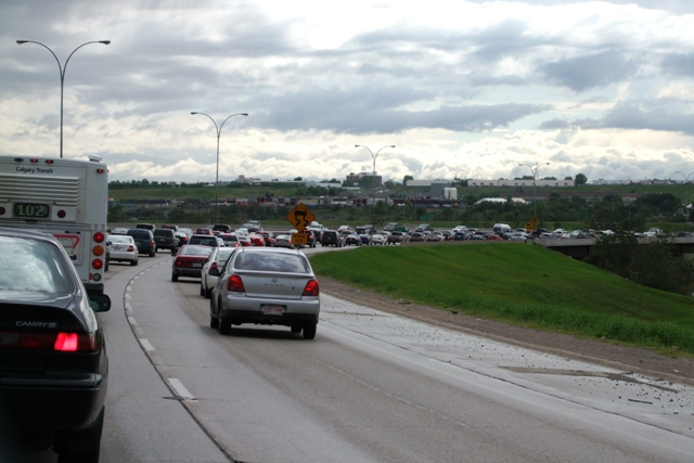 Calgary Traffic on Deerfoot Trail