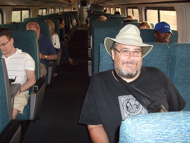 Amtrak train car by Sheree Zielke