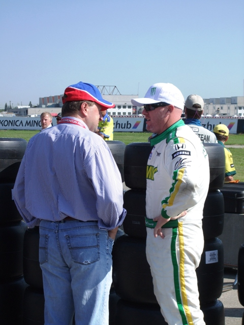 Paul Tracy chats trackside by Sheree Zielke