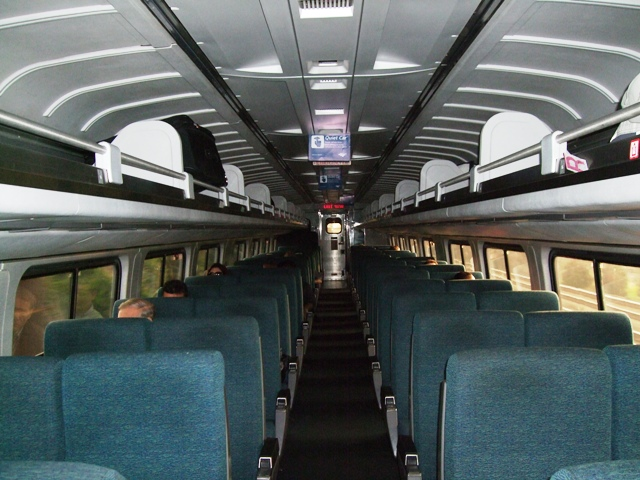 Quiet Car Amtrak Train by Sheree Zielke