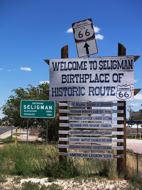 Seligman Arizona Birthplace Sign by Sheree Zielke