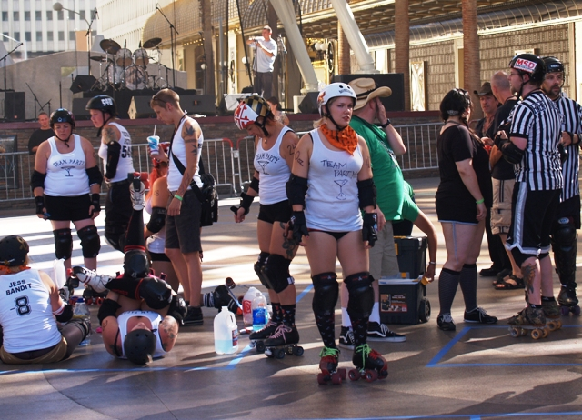 Roller Derby Ladies in Las Vegas by Sheree Zielke